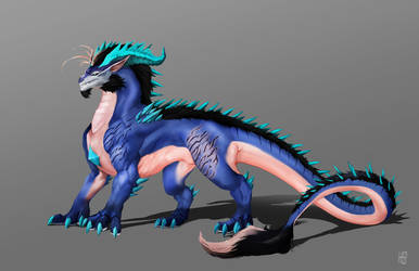 Feral Ice dragon James(Dragon form) by DoomGuy26
