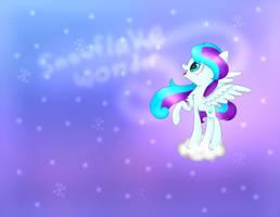 Snowflake Wonder Wallpaper (gift) by Marzipan-Madness