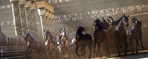 To the Death: Chariot Race in the Circus Maximus by Magnus-Strindboem