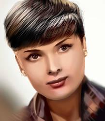 Audrey Hepburn by Mariannii