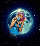 Blue Moon Mess by WittA