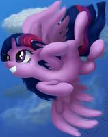 Flight of the Twilicorn by DeathPwny