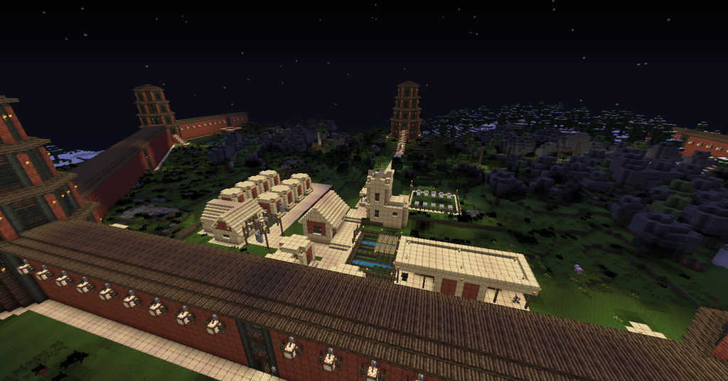 Minecraft Watchtower Walls Completed 2 By Henshindaisuke On Deviantart