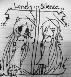 Lonely...Silence~ creepypasta oc by lucachin