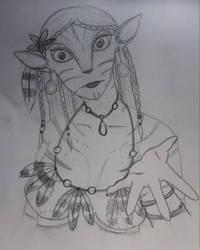 Na'vi OC - Lil'ian by skeletonjackpumpkin