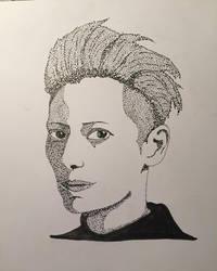 Tilda Swinton - Pointillism by skeletonjackpumpkin
