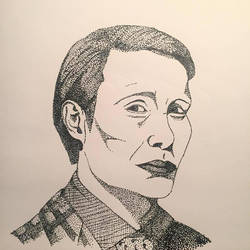 Hannibal Lecter NBC by skeletonjackpumpkin