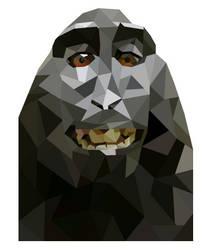 Monkey Geo Art by emynemzz