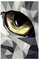 Wolf Eye #3 (Full) Geo Art by emynemzz