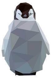 Penguin Geo Art by emynemzz