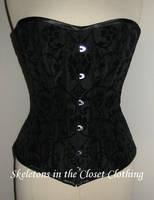 Black Victorian Corset by BlackvelvetSITC