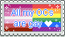 [Stamp] All my OCs are gay by QursidaeStamps