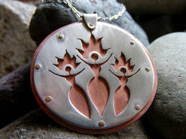 Goddess Brigid Necklace by MoonLitCreations