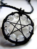 Moonstone Pentacle Necklace by MoonLitCreations