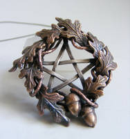 Harvest Pentacle Necklace by MoonLitCreations