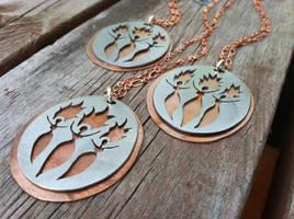 Goddess Brigit Brigid Brighid Necklace by MoonLitCreations