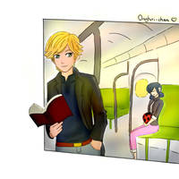 Adrienette  in the train by lau2504
