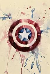 Captain America's Shield by MajaGantzi