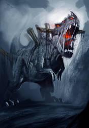 Undead Demon Dinosaur by OnMyOwnStudios