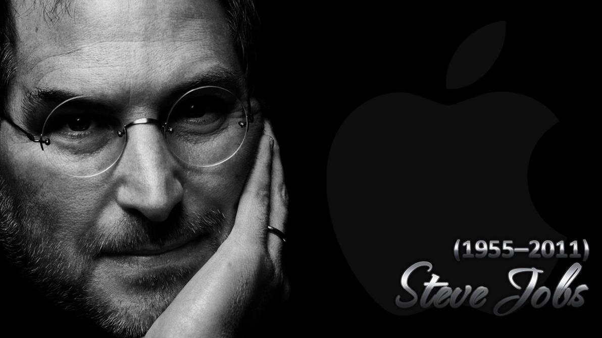 Steve Jobs Walpaper Black by renatofraccari