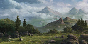 Mountain Landscape by onlychasing-safety