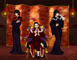 Commission - Triple Threat by Rassilon001