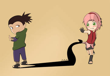 Shikamaru and Sakura by pCShoCkr