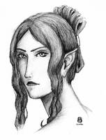Sunishia Portrait Sketch by Sunishia