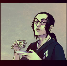 Jin with tea by andrahilde