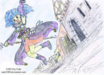 OC Lucie jumping by Uuki1988
