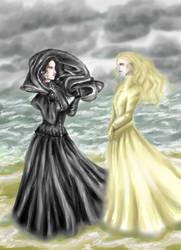 Vanessa and Mina by sombrefeline