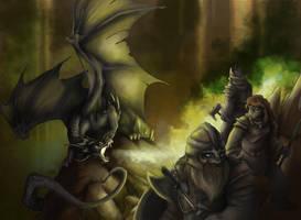 Black dragon lord by Mystalia