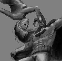 Black Widow x Batman by xCandySlice