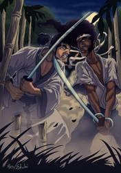 samurai jack vs afro samurai by etubi92