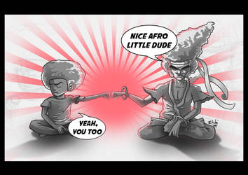 afro dudes (huey and afro samurai) by etubi92