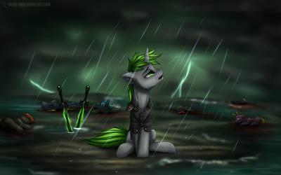Under rain [commission] by Shido-Tara