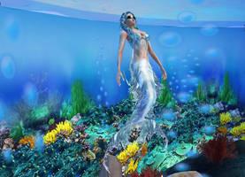 New sense bonus pic - mermaid 4 by Worldoftg