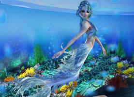 New sense bonus pic - mermaid 5 by Worldoftg