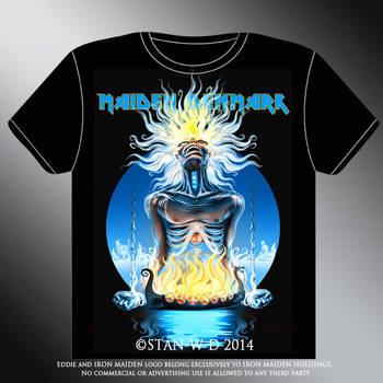 MAIDEN DENMARK - T-shirt design by stan-w-d
