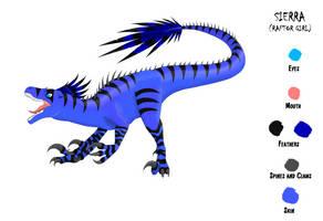 Sierra (Raptor Girl)-Dinosaur Form by dio25