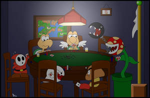 Goombas Playing Poker by sindra