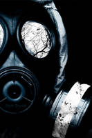 Gas Mask Reflection by DreaMusiC