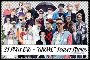 Pack 24 PNGs EXO by SickyJinny