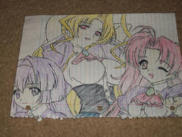 Kuriko, Rin, and Yuna Agian by williedude