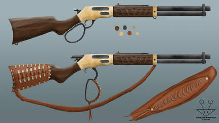 Lever-Action Rifle (Commission) by BurgerForLunsh
