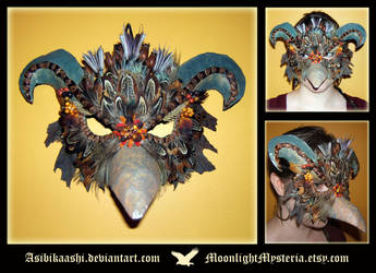 Tribal Bird Mask by MoonlightMysteria