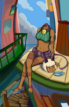 Skullgirls - Ms Fortune at Innsmouth by dczhang