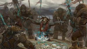 orc shaman by markmolchan