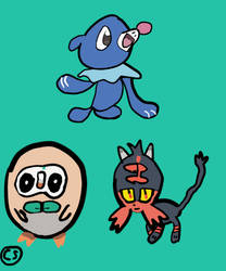 Pokemon Sun and Moon Starters! by Sinclair5198