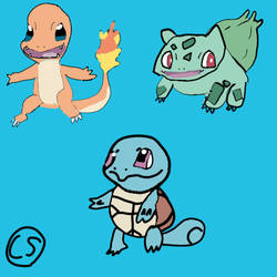 (Pokemon) Gen 1 Starters by Sinclair5198
